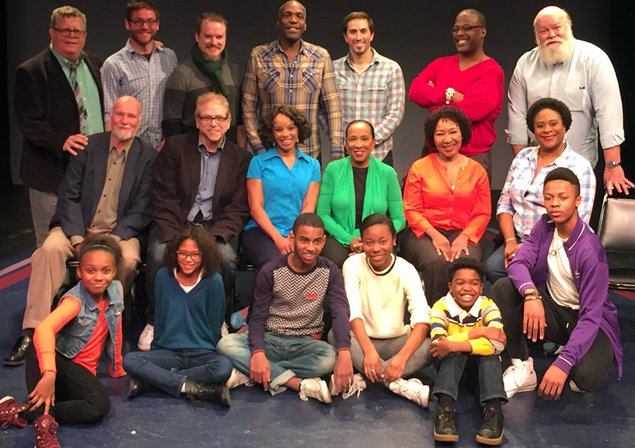 Cast at the February 2016 reading at the York Theatre, NYC